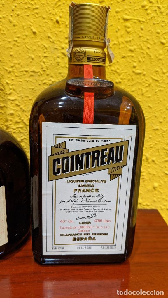 Botellas antiguas: licores-gran marnier y cointreau - año 1980-90 - Foto 4 - 202475133