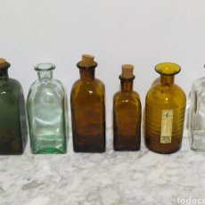 Botellas antiguas: LOTE ANTIGUAS BOTELLAS FARMACIA BEBIDAS ECT. Lote 203833251