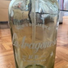 Botellas antiguas: ANTIGUO SIFON LA ARAGONESA SAGUNTO VALENCIA. Lote 203878286