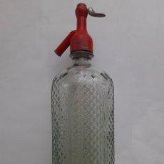 Botellas antiguas: ANTIGUO SIFON BOTELLA CRISTAL JUAN SERRAT JAVEA. Lote 206593898