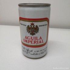 Botellas antiguas: LATA CERVEZA EL AGUILA IMPERIAL 33 CL ESPAÑA BEER BIRRA CAN ANTIGUA. Lote 207268707