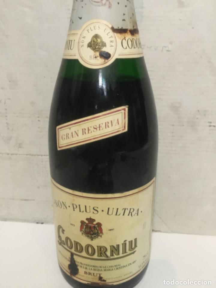 Botellas antiguas: (M-R/C) ANTIGUA BOTELLA DE CAVA CODORNIU GRAN RESERVA NON-POLUS-ULTRA BRUT R.S.i.30-279/13 - EMB 375 - Foto 2 - 210818396