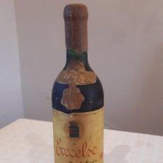 Botellas antiguas: BOTELLA VINO EXCELSO GRAN RESERVA 1952. TINTO RIOJA BODEGAS FRANCO ESPAÑOLAS. NUNC. Lote 210965524
