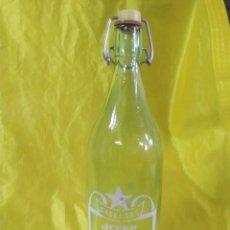 Botellas antiguas: BOTELLA GASEOSA SERIGRAFIADA 1 LITRO JOSE FERNANDEZ VEGA DE MAGAZ (LEON) ENVIO PENINS MENS GRATIS. Lote 212178495