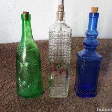 Bottigglie antiche: ANTIGUAS BOTELLAS CRISTAL. Lote 213325645