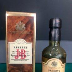 Botellas antiguas: JB RESERVE 15 AÑOS. SCOTCH WHISKY. CAJA ORIGINAL. AÑO 1992. MUY BUEN ESTADO. Lote 214589807