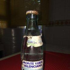 Bouteilles anciennes: BOTELLA SIN ABRIR DE AGUA SIN GAS MONTE VERDE VALENCIANA - AÑO 1989 - 25 CL.. Lote 217809571