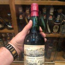 Botellas antiguas: TOSTADILLO. VINO LICOROSO DULCE. MARIANO PALACIOS. POTES (SANTANDER) BODEGA LEBANIEGA. BUEN ESTADO. Lote 217959023