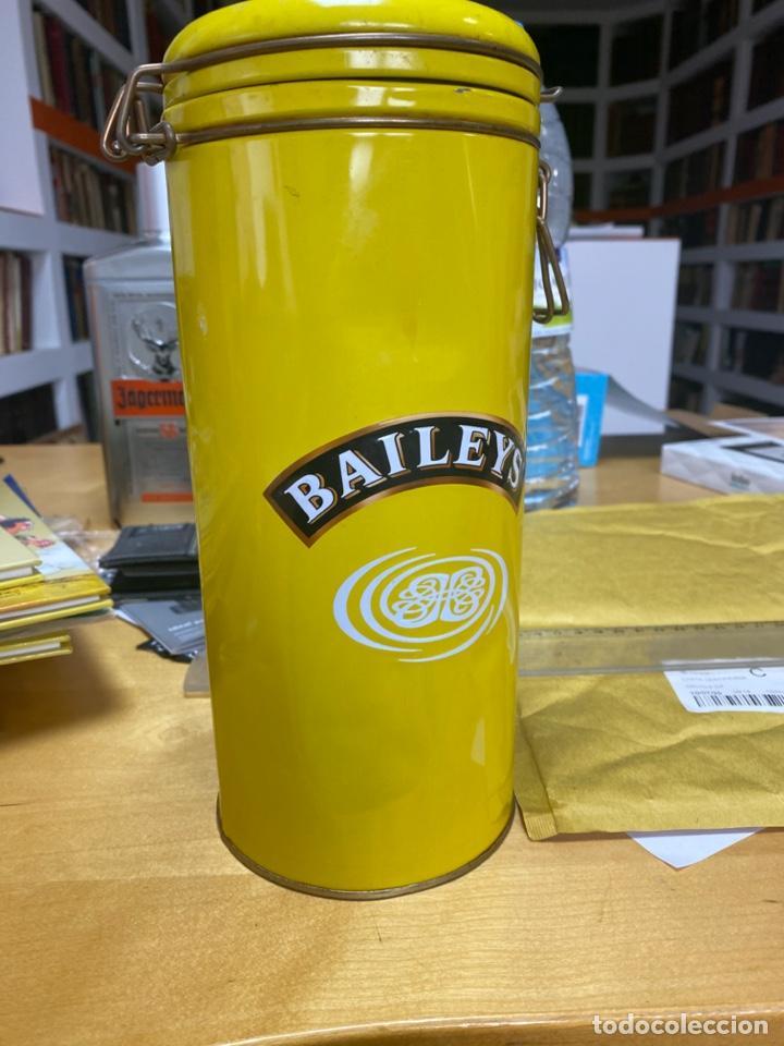CAJA METALICA PARA BOTELLA BAILEYS. ESTÁ ALGO TOCADA, VER FOTO. (Coleccionismo - Botellas y Bebidas - Botellas Antiguas)