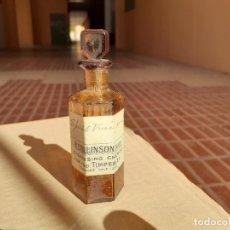 Botellas antiguas: FRASCO DE FARMACIA E. COLLINSON // SIN CONTENIDO. Lote 220757191