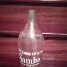 Bouteilles anciennes: ANTIGUA BOTELLA CRISTAL DE ACEITE DE OLIVA SAMBA OVIEDO. Lote 221841668