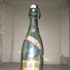 Botellas antiguas: BOTELLA ANTIGUA AGUA OXIGENADA FORET 5 CENTIMOS TAPON DE CERAMICA 1 LITRO ENVIO 4,31 EUROS. Lote 222037746