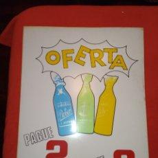 Botellas antiguas: CARTEL DE PUBLICIDAD DE GASEOSAS ROBERTO. LA ESTRADA-PONTEVEDRA. Lote 222281792