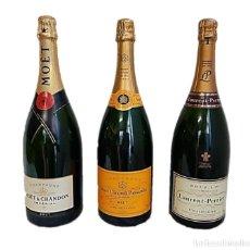 Botellas antiguas: BOTELLAS GIGANTES 40 CM CHAMPAGNE DE COLECCIÓN. Lote 224714328