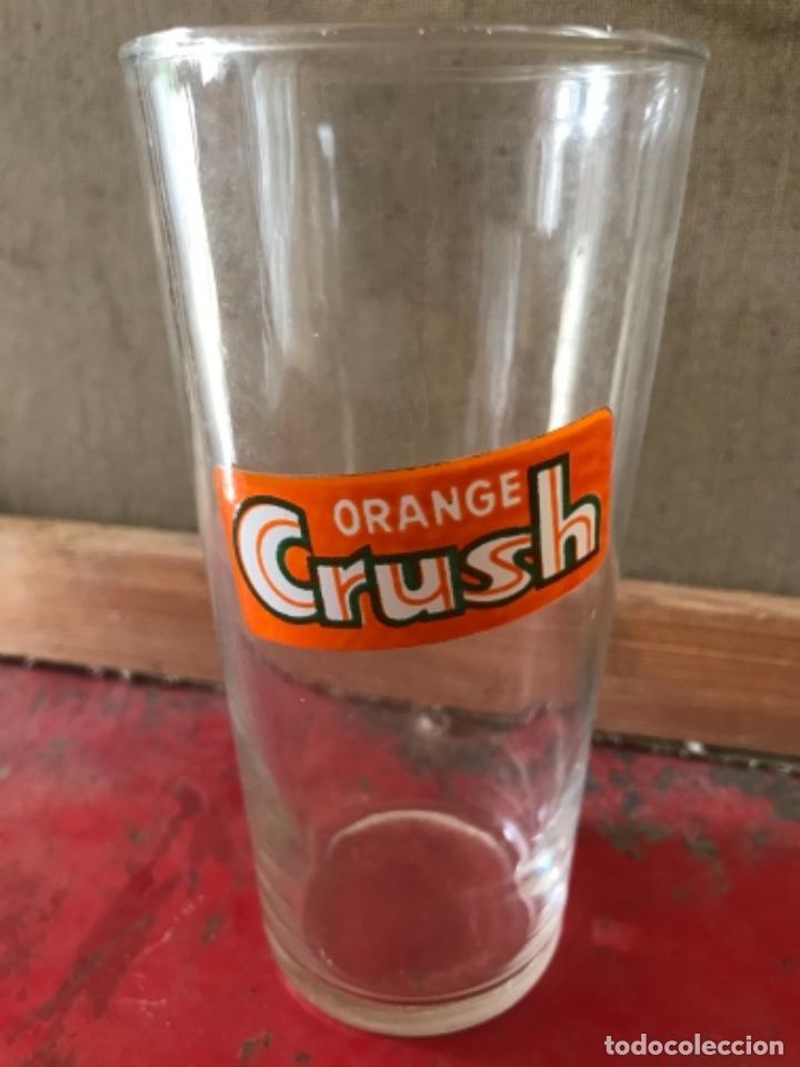 Botellas antiguas: Antiguo vaso Orange Crush. Español. Años 50- 60s. Sin usar - Foto 2 - 227680785