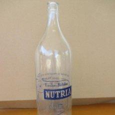 Botellas antiguas: LECHE Y BATIDOS NUTRIA GRANJA FUSTER 1 LITRO. Lote 228928570