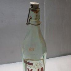 Botellas antiguas: BOTELLA ANTIGUA ESPUMOSOS YOLA AGUAS DE MARIOLA ALCOY. Lote 231032815