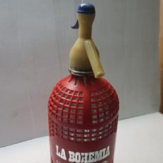Botellas antiguas: SIFON LA BOHEMIA DE ALCOY. Lote 233432465