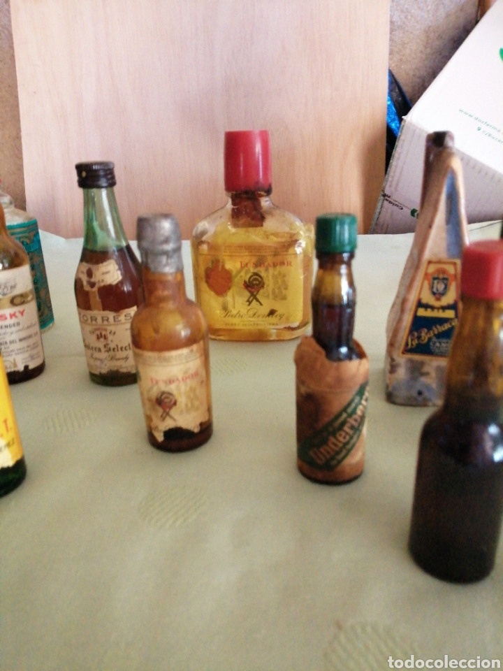 Botellas antiguas: Lote de varías botellas en miniatura - Foto 4 - 234682825