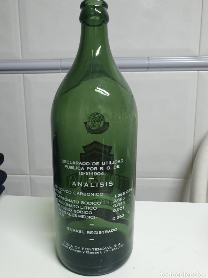 Botellas antiguas: Botella 1 litro Aguas de FONTENOVA - Foto 2 - 236245040