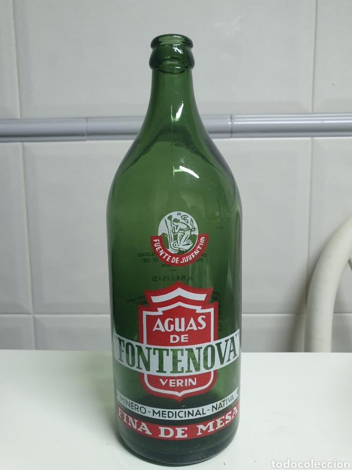 BOTELLA 1 LITRO AGUAS DE FONTENOVA (Coleccionismo - Botellas y Bebidas - Botellas Antiguas)