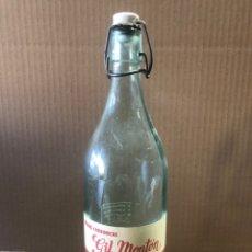 Botellas antiguas: BOTELLA DE GASEOSA GIL MONTÓN CALATAYUD. Lote 236336095