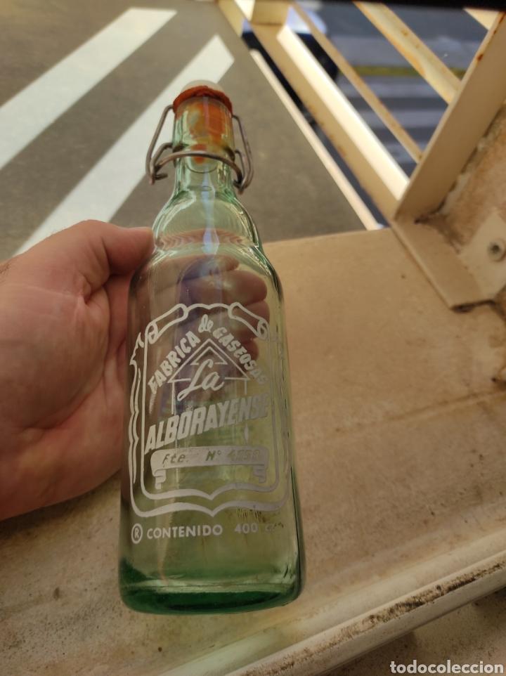 ANTIGUA BOTELLA FÁBRICA DE GASEOSAS LA ALBORAYENSE - VALENCIA - FORMATO RARO DE 400 C.C - (Coleccionismo - Botellas y Bebidas - Botellas Antiguas)