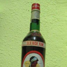 Botellas antiguas: + RON NEGRITA BARDINET ANTIGUA BOTELLA SIN ABRIR. Lote 240128030