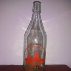 Botellas antiguas: BOTELLA SERIGRAFIADA ESPUMOSOS SANCHEZ BORJA ZARAGOZA. AÑOS 50 O 60.. Lote 244220760