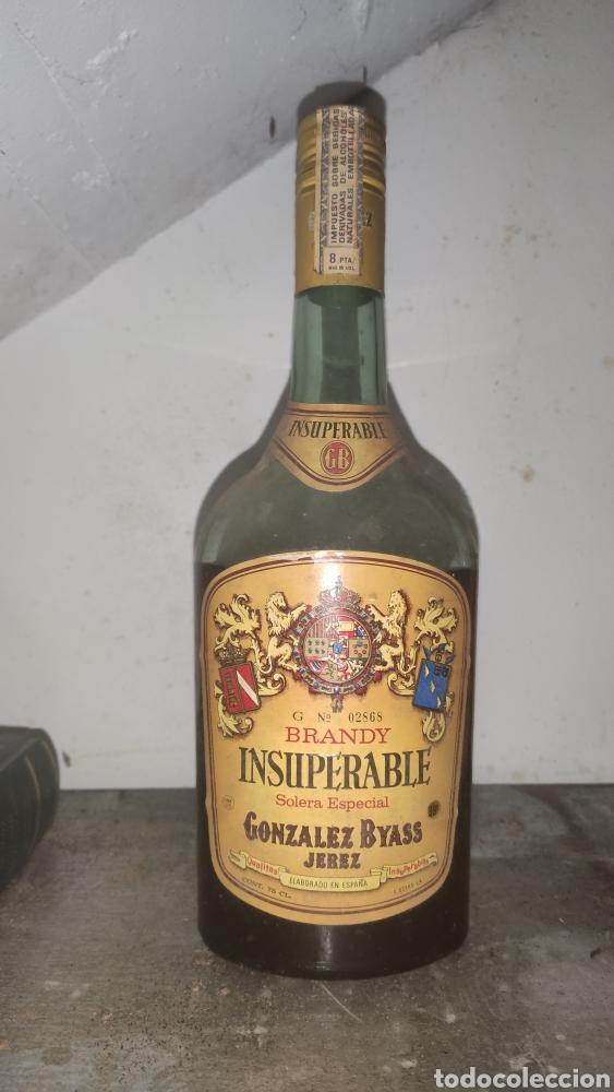 BRANDY INSUPERABLE MUY ANTIGUO (Coleccionismo - Botellas y Bebidas - Botellas Antiguas)