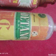 Botellas antiguas: LOTE COLECCIÓN DE ANTIGUAS BOTELLAS DE INSECTICIDAS. Lote 249367175