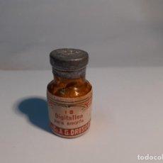 Botellas antiguas: FRASCO DE FARMACIA DIGITALINA PURA AMORFA // SIN DESPRECINTAR. Lote 297335708
