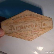 Botellas antiguas: CAJA DE FARMACIA ARSYCODILE MAURICE LEPRINCE // SIN DESPRECINTAR AÑOS 20. Lote 252218920
