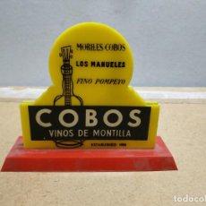 Botellas antiguas: SERVILLETERO VINOS DE MONTILLA COBOS. 15X12 CM. Lote 261604155