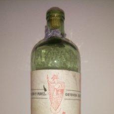 Botellas antiguas: BOTELLA DE LEJÍA EL GUERRERO. ÚNICA EN TODOCOLECCIÓN.. Lote 262503580