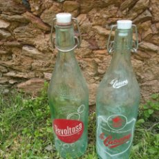 Botellas antiguas: DOS BOTELLAS DE GASEOSAS.. Lote 262584095