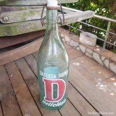 Botellas antiguas: BOTELLA DE GASEOSA SUPER D. Lote 264529554
