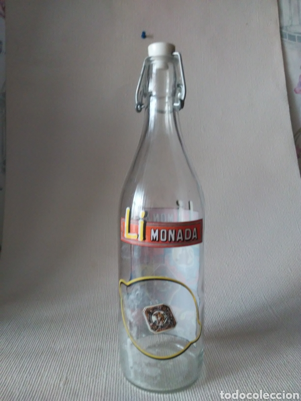 Botellas antiguas: Botella gaseosa Li monada de anis el mono - Foto 2 - 274667998