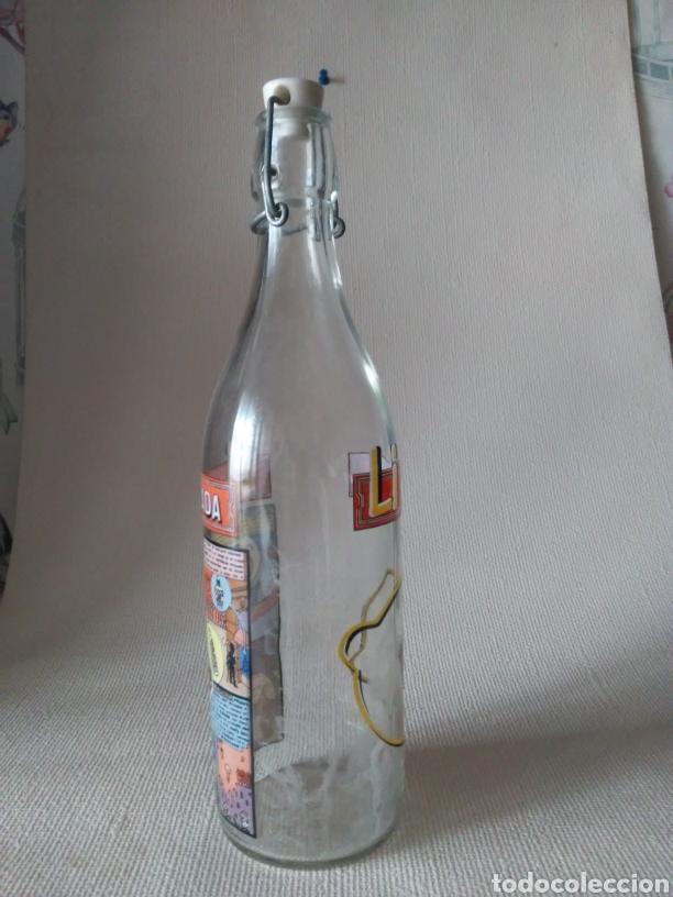 Botellas antiguas: Botella gaseosa Li monada de anis el mono - Foto 3 - 274667998