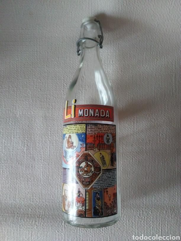Botellas antiguas: Botella gaseosa Li monada de anis el mono - Foto 7 - 274667998