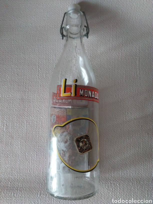 Botellas antiguas: Botella gaseosa Li monada de anis el mono - Foto 9 - 274667998