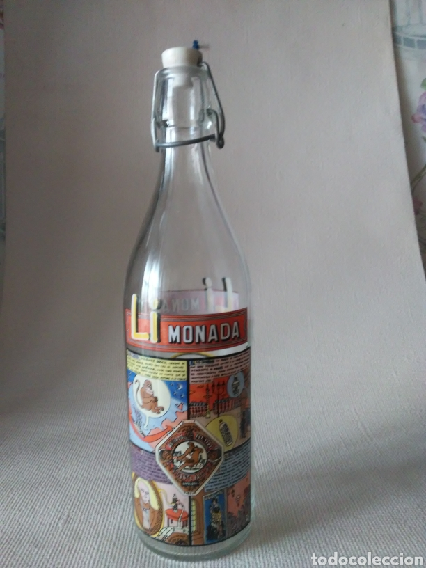 BOTELLA GASEOSA LI MONADA DE ANIS EL MONO (Coleccionismo - Botellas y Bebidas - Botellas Antiguas)