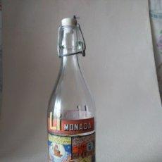 Botellas antiguas: BOTELLA GASEOSA LI MONADA DE ANIS EL MONO. Lote 274667998