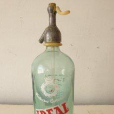 Botellas antiguas: SIFÓN CON TAPÓN PLOMO IDEAL DE GRANOLLERS. Lote 277629718