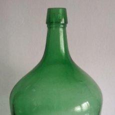 Botellas antiguas: GARRAFA-DAMAJUANA EN VIDRIO COLOR VERDE.5 L. Lote 277637178