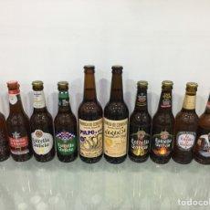 Botellas antiguas: LOTE 8 BOTELLAS LLENAS ESTRELLA GALICIA COLECCIÓN. Lote 278968983