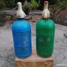 Botellas antiguas: SIFONES LA REVOLTOSA EL GALLO. Lote 286008148