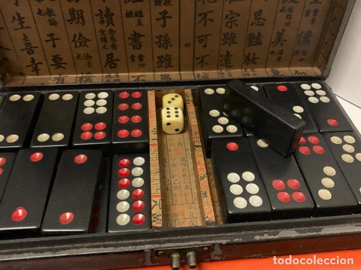 Botellas antiguas: ANTIGUO MAHJONG - MAH JONG o dominó oriental, en caja original. fichas tipo baquelita - Foto 3 - 288443773