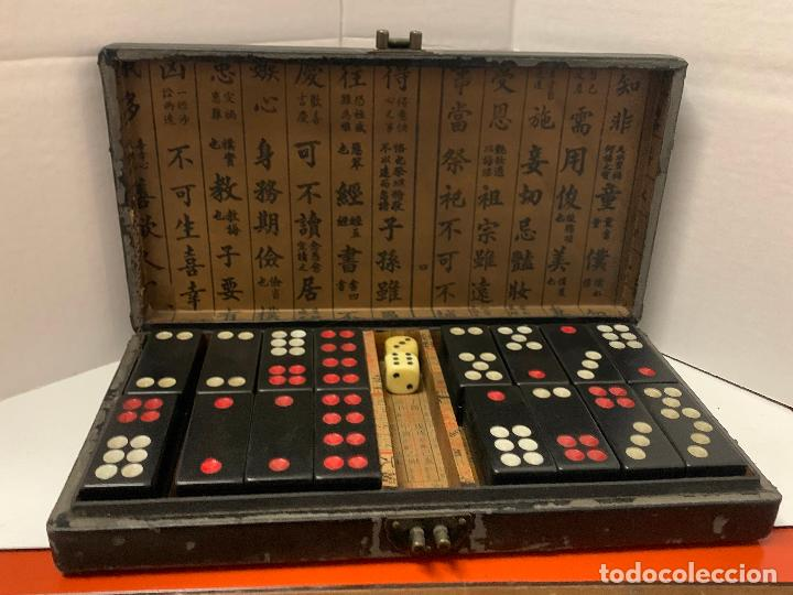 Botellas antiguas: ANTIGUO MAHJONG - MAH JONG o dominó oriental, en caja original. fichas tipo baquelita - Foto 6 - 288443773