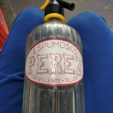 Bouteilles anciennes: SIFÓN ESPUMOSOS PÉREZ CREVILLENTE. Lote 288970188